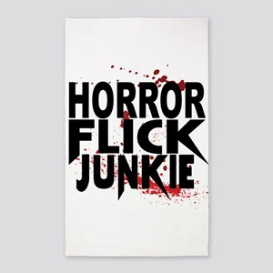 Horror Flick Junkie 3'x5' Area Rug