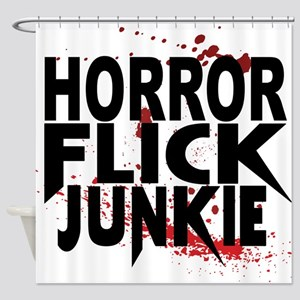 Horror Flick Junkie Shower Curtain