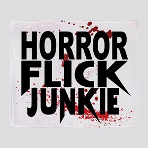 Horror Flick Junkie Throw Blanket