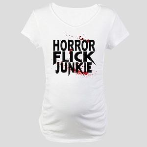 Horror Flick Junkie Maternity T-Shirt