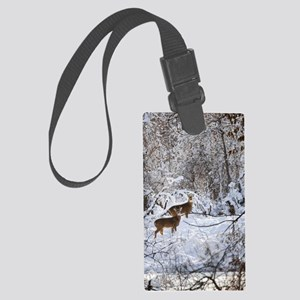 A Winter Wonderland Large Luggage Tag