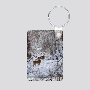 A Winter Wonderland Aluminum Photo Keychain