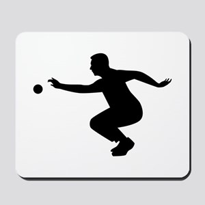 Petanque player Mousepad