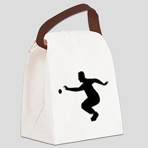 Petanque player Canvas Lunch Bag