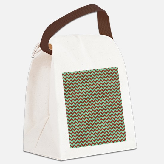 mint chocolate chip ice cream Canvas Lunch Bag