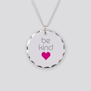 Be Kind Necklace Circle Charm