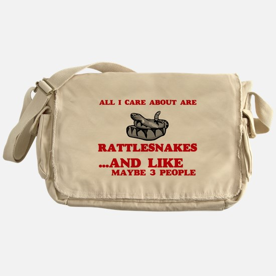 All I care about are Rattlesnakes Messenger Bag