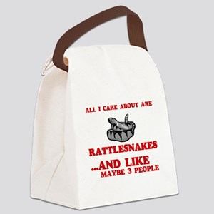 All I care about are Rattlesnakes Canvas Lunch Bag