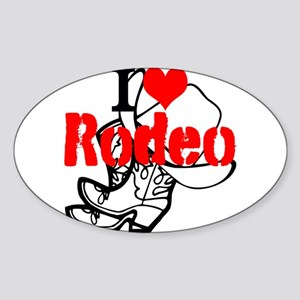 I Love Rodeo Sticker