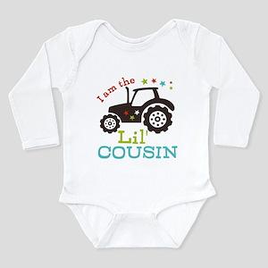 Little Cousin Tractor Long Sleeve Infant Bodysuit