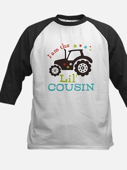 Little Cousin Tractor Kids Baseball Jersey