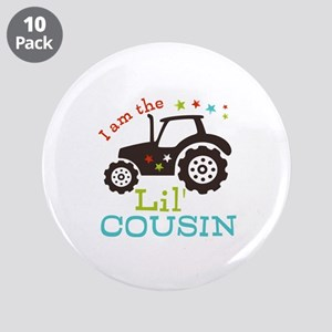 """Little Cousin Tractor 3.5"""" Button (10 pack)"""