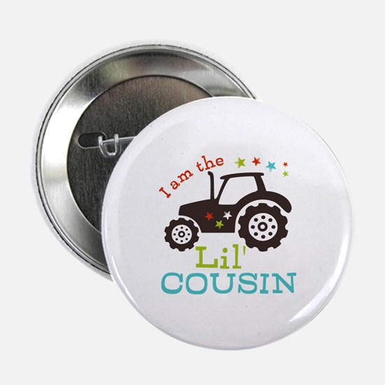 """Little Cousin Tractor 2.25"""" Button (10 pack)"""