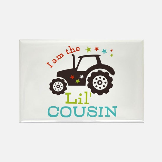 Little Cousin Tractor Rectangle Magnet (10 pack)