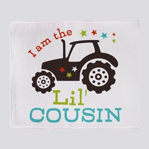 Little Cousin Tractor Throw Blanket