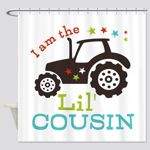 Little Cousin Tractor Shower Curtain