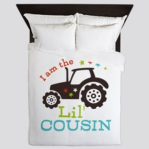 Little Cousin Tractor Queen Duvet