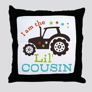 Little Cousin Tractor Throw Pillow