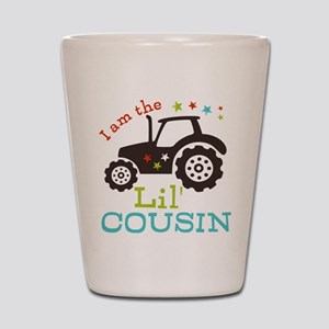 Little Cousin Tractor Shot Glass