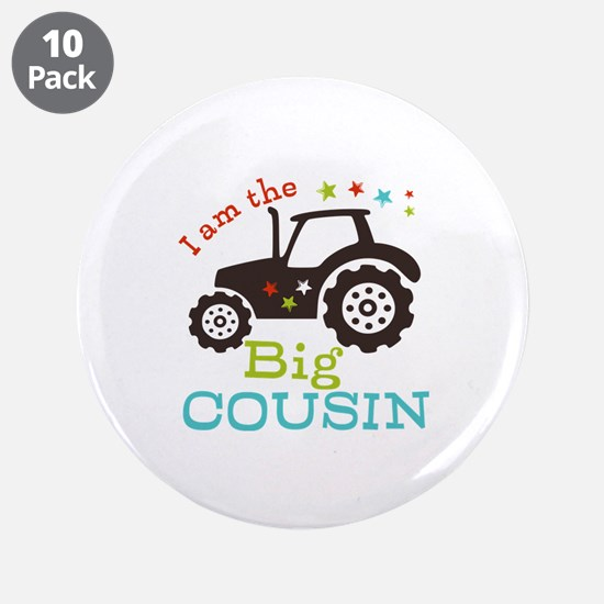 """Big Cousin Tractor 3.5"""" Button (10 pack)"""