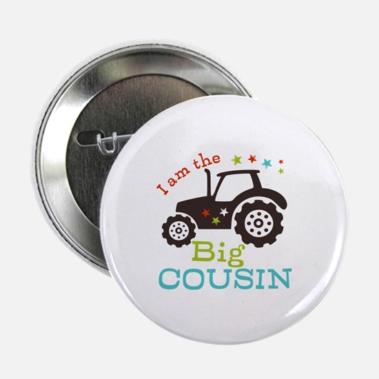 """Big Cousin Tractor 2.25"""" Button (10 pack)"""