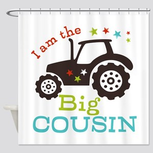 Big Cousin Tractor Shower Curtain