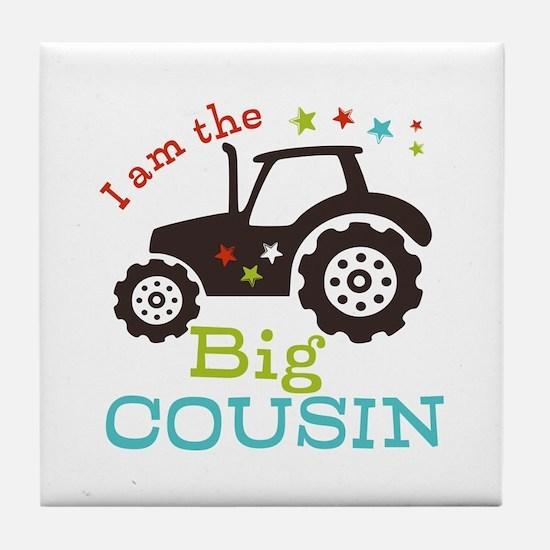 Big Cousin Tractor Tile Coaster