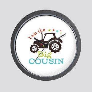 Big Cousin Tractor Wall Clock