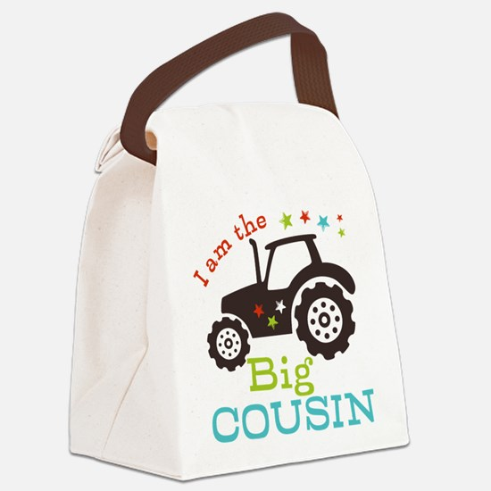 Big Cousin Tractor Canvas Lunch Bag