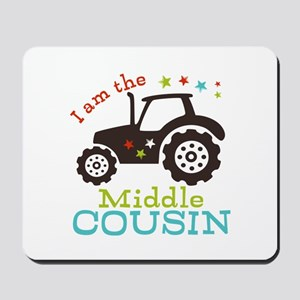 Middle Cousin Tractor Mousepad
