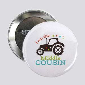 """Middle Cousin Tractor 2.25"""" Button (10 pack)"""