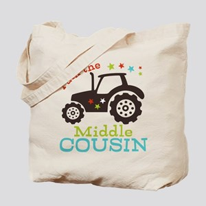 Middle Cousin Tractor Tote Bag