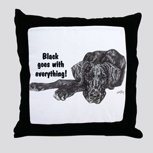 NBlkPup Everything Throw Pillow