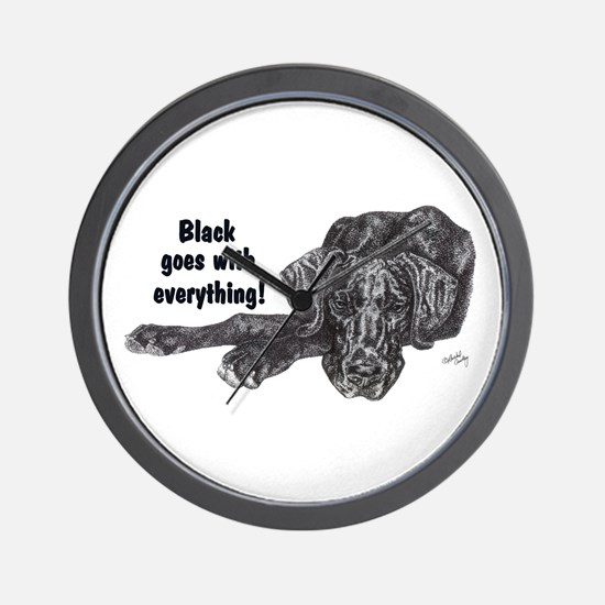 NBlkPup Everything Wall Clock