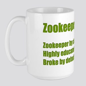 Zookeeper By Choice Green Large Mug
