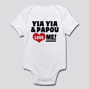 Yia Yia and Papou Love Me Baby Light Bodysuit