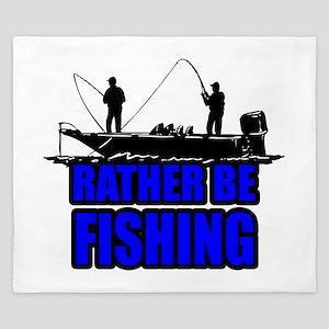 1ratherbefishing1 King Duvet