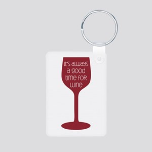 Good Time For Wine Keychains