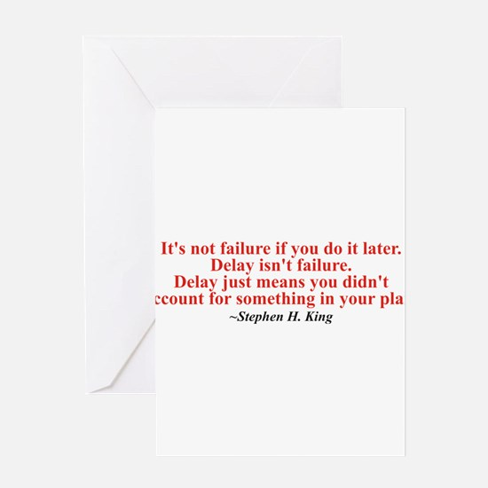 Its not failure Greeting Card