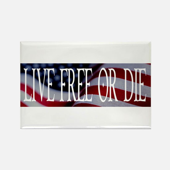 LIVE FREE OR DIE Rectangle Magnet