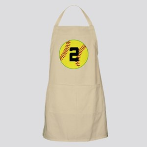 Softball Sports Player Number 2 Apron