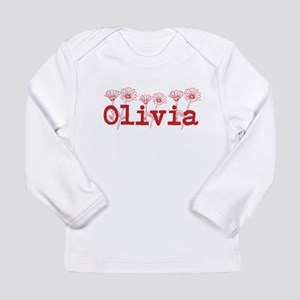 Red Olivia Name Long Sleeve T-Shirt