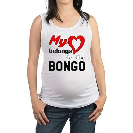 My Heart Belongs To The Bongo Maternity Tank Top
