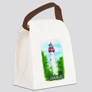 Cape May Lighthouse Canvas Lunch Bag