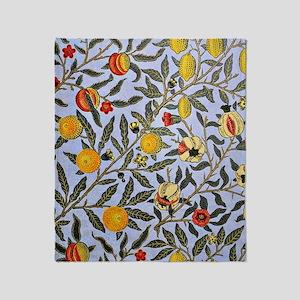 William Morris vintage pattern, Frui Throw Blanket