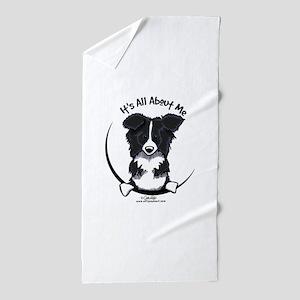 Border Collie IAAM Beach Towel