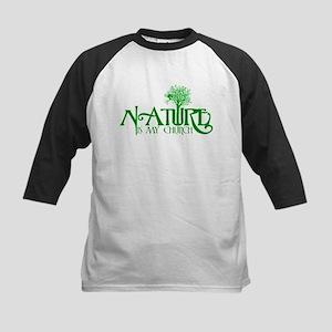 Nature is my Church Kids Baseball Jersey