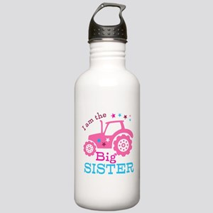 Pink Tractor Big Sister Stainless Water Bottle 1.0