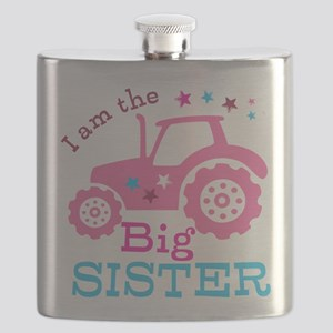 Pink Tractor Big Sister Flask