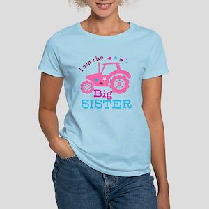 Pink Tractor Big Sister T-Shirt